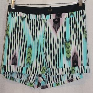Multi colored polyester shorts